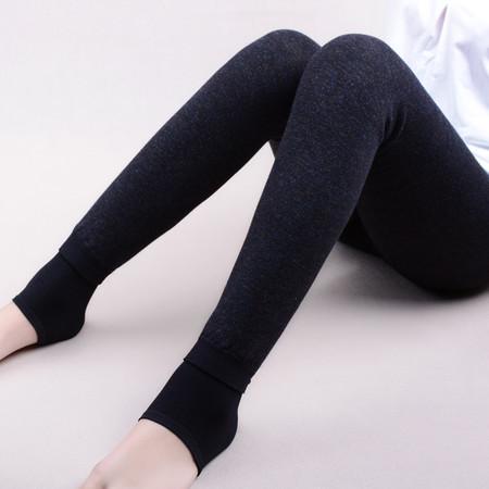 温馨渠 孕妇加厚加绒打底裤 修身一体裤 冬天保